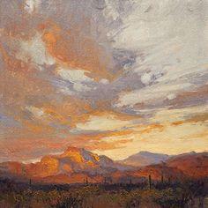 Arizona Skyline by Kim Casebeer Oil ~ 12 x 12