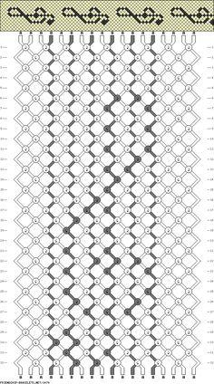 18 strings, 32 rows, 2 colors, bracelet
