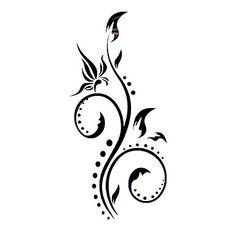 Tatouages Autocollants Motif/Waterproof Séries de fleur Homme/Girl/Adolescent Noir Papier #(5) #(12.5×6.5) – EUR € 4.54