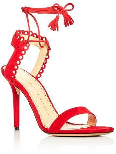 Charlotte Olympia Salsa Ankle Tie High Heel Sandals