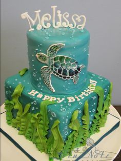 My dream cake! My birthday is coming up! Turtle Birthday Parties, My Birthday Cake, Turtle Birthday Cakes, Turtle Party, Happy Birthday, Ocean Cakes, Beach Cakes, Fancy Cakes, Cute Cakes