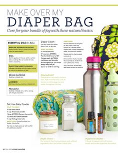 Doterra diaper bag http://www.mydoterra.com/lholamon/