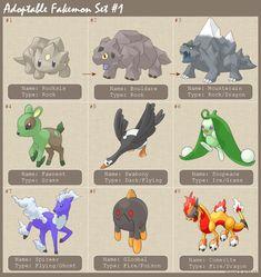 Adoptable fakemon 1 by princess-phoenix on DeviantArt Real Pokemon, Pokemon Fan Art, Pokemon Sun, Pokemon Fusion, Pet Style, Curious Creatures, Nerd Love, Pokemon Pictures, Fire Emblem