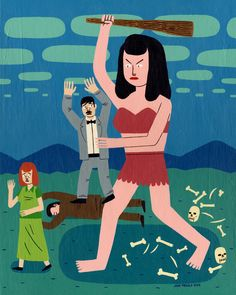 Jack Teagle. Giant Woman Attack