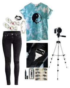 """""""Fiona Lester"""" by blueelephant115 ❤ liked on Polyvore featuring H&M, Topshop, Targus, Cult Gaia, Retrò and Lizzy James"""