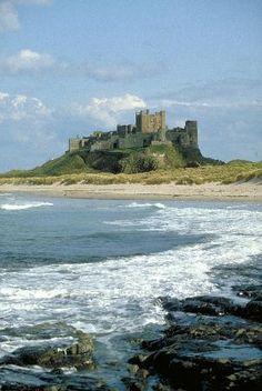 Bamburgh Castle - fabulous castle on Northumberland coast - now apartments