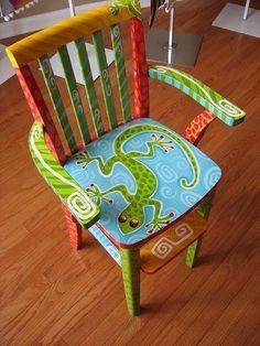 Расписной детский стул