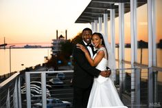 Smiling bride and groom during a beautiful sunset on the Detroit River #Michiganwedding #Chicagowedding #MikeStaffProductions #wedding #reception #weddingphotography #weddingdj #weddingvideography #wedding #photos #wedding #pictures #ideas #planning #DJ #photography #bride #groom