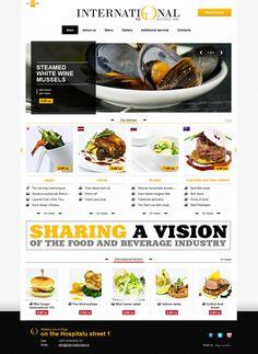 Clean web design for an International restaurant on the Behance Network News Web Design, Modern Web Design, Graphic Design, Webdesign Inspiration, Web Inspiration, Menu Design, Food Design, App Design, Design Ideas