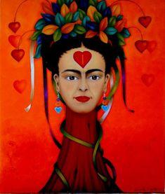 """""""Para Frida con Amor"""" es un agradecimiento a la acogida que este país me ha brindado. Lo he hecho a través de imagen de Frida pues me cautivó desde que comenzé a conocerla y estudiarla. Me gusta cómo su particular estilo y personalidad han quedado grabado…"""