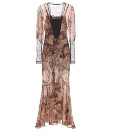 mytheresa.com -  Lace-trimmed silk dress - Luxury Fashion for Women / Designer clothing, shoes, bags