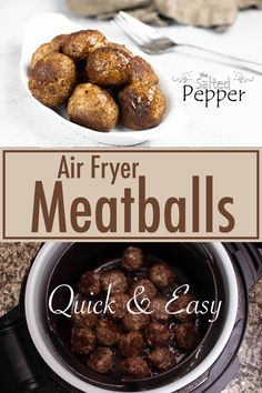 Grilling Recipes, Beef Recipes, Pressure Cooker Recipes Pasta, Air Fryer Cooking Times, How To Cook Meatballs, Air Frier Recipes, Favorite Recipes, Yummy Food, Stuffed Peppers