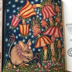 I finished this last night 😄#coloring#magiskgryning#hannakarlzon#coloringbook#coloringpages#coloringisfun#coloringbooks#relaxingtime#therapy#mouse#målarbok#magicaldawn#artwork#fun#coloring_repost#coloringmasterpiece#coloring_secrets