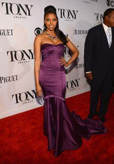 Condola Rashad at the 2013 Tony Awards Red Carpet