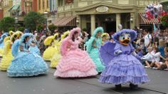 2014 Easter Pre-Parade at Magic Kingdom featuring the Azalea Trail Maids from Mobile, AL