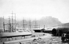 The Docks at Cape Town 1898 East India Company, Cape Town South Africa, History Photos, Antique Maps, Historical Pictures, India Travel, Vintage Photos, African, City