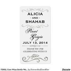 FINAL Cute Wine Bottle Wedding favor Label Sticker