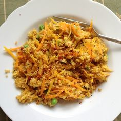 Recipe: Egg Fried Cous Cous with Fridge Bottom Veggies. Had this for dinner tonight! Great substitute when there's no rice on hand.