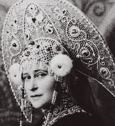 "imperial-russia: """"Grand Duchess Elizaveta Fyodorovna, born Princess Elisabeth of Hesse, and the fabulous kokoshnik she wore for the 1903 costume ball in Winter Palace. "" """