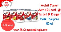 Yoplait Yogurt ONLY 40¢ each @ Target & Kroger or use the coupon to make a deal at your favorite store! Click the Picture below to get the BREAKDOWN and DIRECT LINKS to all the coupons ► http://www.thecouponingcouple.com/cheap-yoplait-yogurt/  Help us out and use the SHARE button below the Picture to SHARE this post with your Family and Friends!  #Coupons #Couponing #CouponCommunity  Visit us at http://www.thecouponingcouple.com for more great posts!