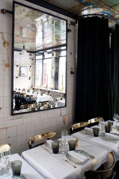 met linnen lijkt het allemaal chiquer...http://anahirestaurant.fr