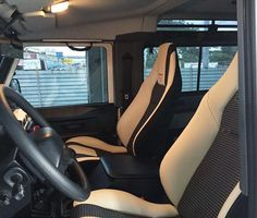 Recaro LX-F IL110H in white leather with black 3D fabric combination installed in a Land Rover Defender 90. Photo forwarded to us by the owner. For all Recaro inquiries here in the Philippines please contact 63 920 913 7168 (Call / SMS / iMessage / WhatsApp / Viber). Or email info@excellar-auto.com #Recaro #RecaroSeats #RecaroComfort #LXF #ComfortSeats #RecaroJapan #RecaroMotorsport #StockIsBoring #RecaroLXF #LumbarSupport #MadeInJapan #RaceProven #Comfort #FirstClassSeating #BestOfTheBest #TryB Defender 130, Landrover Defender, Fabric Combinations, White Leather, Philippines, Car Seats, Black, Black People