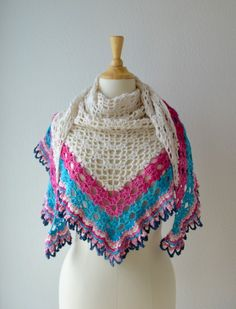 Sunny Day Shawl By  Annelies Baes - Free Crochet Pattern - (en.vicarno)