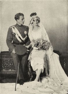 Leopold of Belgium and Astrid of Sweden on their wedding day