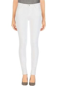 J Brand has the best selection of premium denim jeans, jackets, and clothing. Shop our collection today. J Brand Skinny Jeans Style, White Skinny Jeans, White Denim, Skinny Legs, Skinny Fit, White Chic, J Brand Jeans, Super Skinny, Denim Fashion
