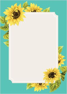 Sunflower Frame Wedding Invitations - Country Wedding Invitations by Basic Invite