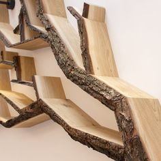 A Pair of Windswept Tree Shelves - BespOak Interiors wall feature designs by bespoak interiors tree shelves Tree Bookshelf, Tree Shelf, Bookshelves, Tree Book Shelves, Diy Wall Shelves, Diy Furniture Plans, Furniture Design, Furniture Projects, Feature Wall Design
