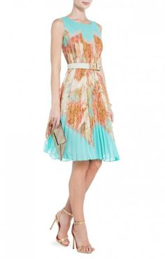 $175.00 BCBGMAXAZRIA KSENIA PRINTED A-LINE DRESS