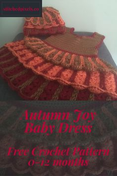 Try out the new Free Crochet Pattern for the Autumn Joy Baby Dress, in sizes newborn - 1 year. Free Baby Patterns, Free Pattern, Pattern Design, Crochet Patterns, Pattern Ideas, Free Crochet, Crochet Hats, Baby Afghans, Free Blog