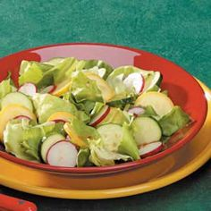 "Italian Summer Squash Salad Recipe -""My mother in Florida shared this recipe with me,"" says Lois Gelzer of Standish, Maine. ""It is very colorful...and it's a great way to use up squash."""