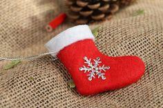 Fabric Tree Decorations – Felt Christmas tree sock – a unique product by Weihnachtsbaum-Deko on DaWanda