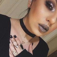 Dark fall makeup