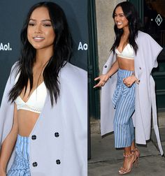Karrueche Tran at the AOL NewFront 2016 held at the Seaport District NYC on May 3, 2016