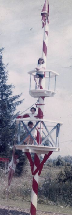 In the 1960s, this telephone pole tree house entertained neighborhood kids in Grand Rapids, Michigan (story from Reminisce.com)