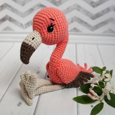 Детские Фламинго Амигуруми - Бесплатный Шаблон