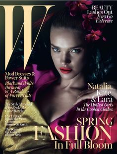A Year in W - Natalia Vodianova on the cover of W's March 2013 issue.