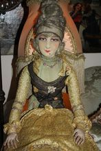 RARE and Unusual Madame Pompadour French Boudoir Bed Doll