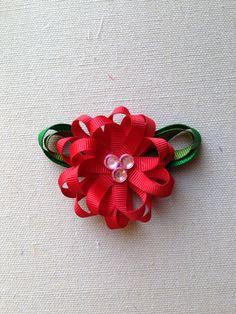 The listing is for ONE hair clip    This is the perfect MINI version of the loopy flower bows in my store!!  They are great for little