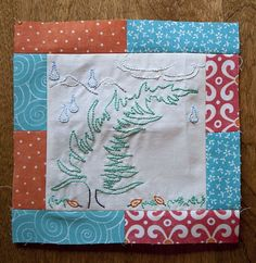 Conifers and Clouds - Free pattern