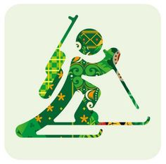 Biathlon combines cross-country skiing and rifle shooting. Find Olympic Biathlon videos, photos, events, results and news, plus Olympic and World records. Kids Olympics, Winter Olympics 2014, Winter Olympic Games, Winter Games, Usa Olympics, Olympic Idea, Olympic Sports, Olympic Icons, Theme Sport