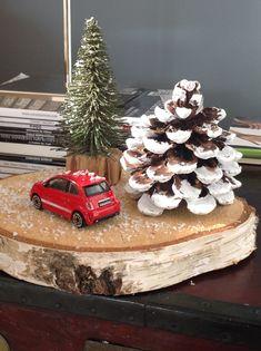 Decoração de natal com madeira