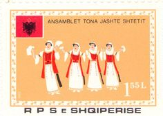 1983  Albania -  Women dancers with garlands. Folklore Festival.