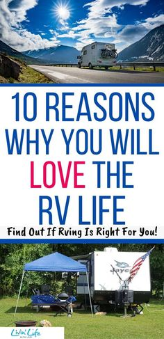 Are you thinking about getting an RV? If you're not sure about RVing with your family, here are 10 Best Reasons Why You Will Love The RV Life! Find out if RVing is Right for you! Camping Life, Rv Life, Rv Camping, Best Campgrounds, Rv Travel, Best Places To Travel, Adventure, Happy Campers, Road Trips