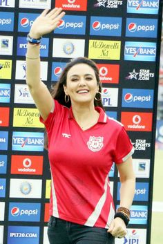 Preity Zinta was all smiles despite her IPL team's loss. #Style #Bollywood #Fashion #Beauty #IPL