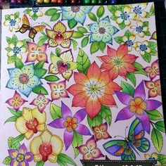 Take a peek at this great artwork on Johanna Basford's Colouring Gallery! Secret Garden Coloring Book, Coloring Book Art, Colouring Pages, Adult Coloring, Coloring Stuff, Magical Jungle Johanna Basford, Jungle Flowers, Johanna Basford Secret Garden, Botanical Line Drawing