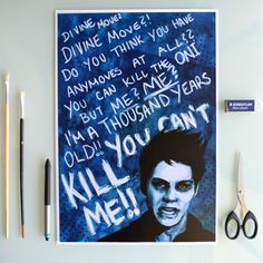 PREORDER  Void Stiles Teen Wolf  A3 Print by DannyJarratt on Etsy
